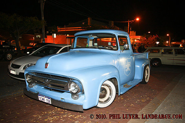 Watto's 56 F100 parked at Brandos