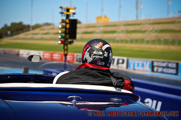 Shannon 'Fishy' Taylor has spent most of his adult life working on drag cars, but this was his first event as a driver