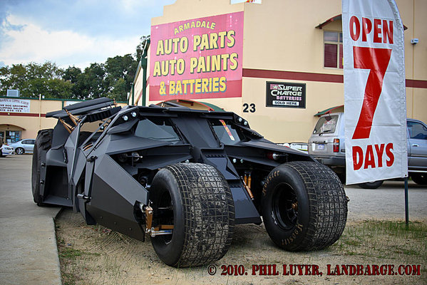 The Tumbler on display outside Armadale Auto Parts in it's last official public appearance