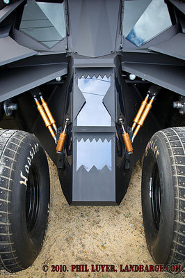 The nose of the Tumbler is reminiscent of the star of the Predator movies