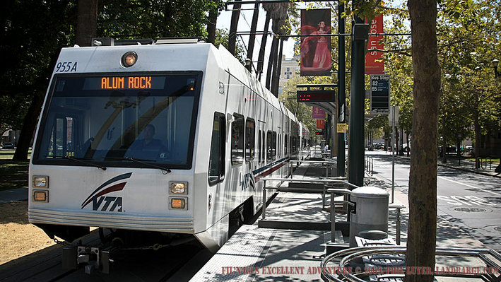 San Jose's Light Rail system provides a cheap, safe and rather comprehensive public transport solution