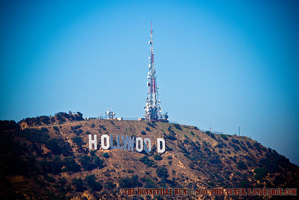 The Hollywood sign, viewed from Mulholland Drive