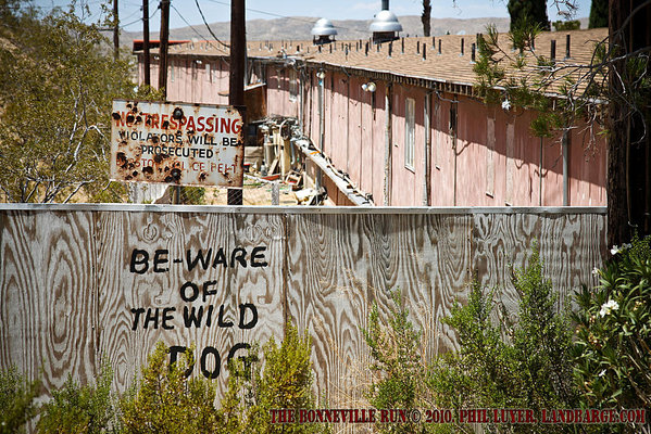An interesting read for would be trespassers in Barstow