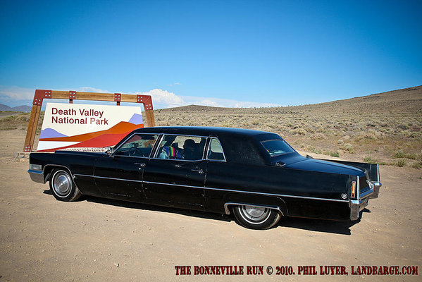 The Caddy on arrival at Death Valley