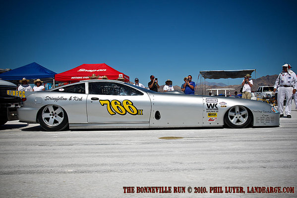 The ill-fated Stringfellow and Kirk /BFCC at Bonneville SpeedWeek 2010