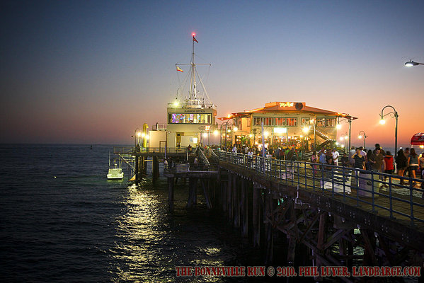 Santa Monica Pier at Night - Los Angeles, CA