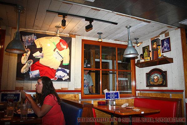 Some of the decor inside Bubba Gumps Shrimp Company
