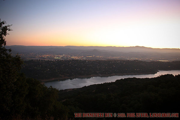 The view from David's property, over the town of Morgan Hill