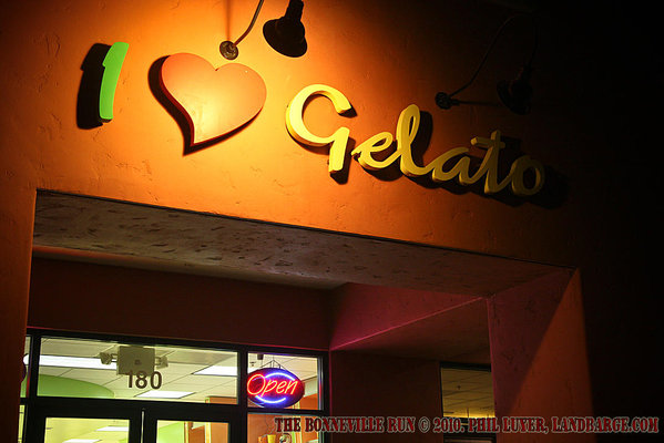 The gelato store we stopped at on the way home