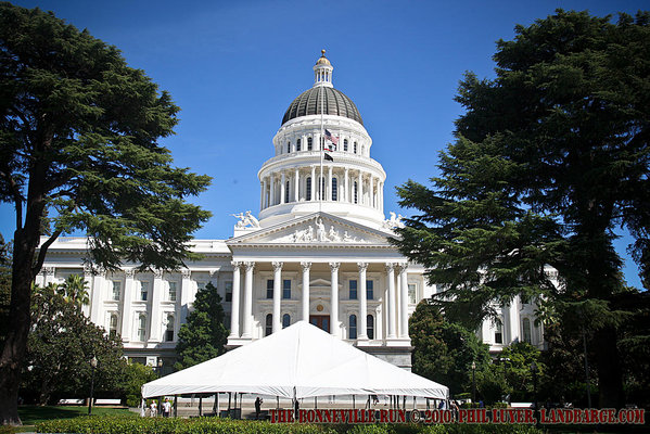 The California State Capitol as seen from the street