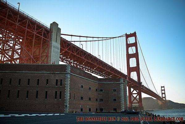 San Francisco's Golden Gate Bridge, viewed from Fort Point