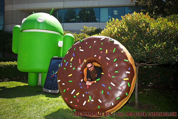 The Android, The Donut and Some Clown at Google