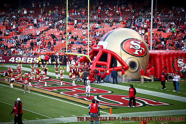 The 49ers take to the field