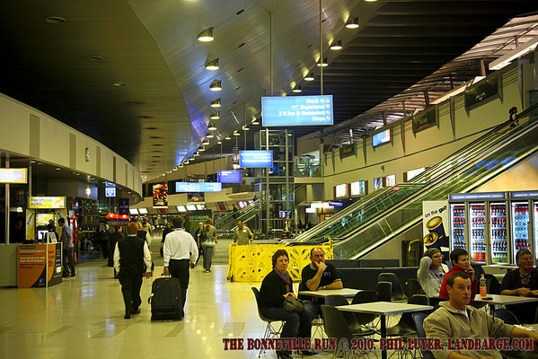 Inside the terminal building at Perth International Airport