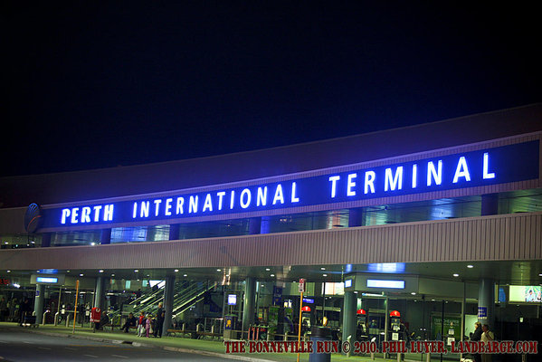 Night time view of Perth International